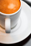 Espresso coffee cup close up macro neutral Royalty Free Stock Photo