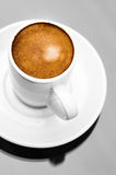 Espresso coffee cup close up macro neutral Royalty Free Stock Photos