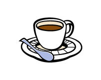 Espresso coffee cup  illustration Stock Images