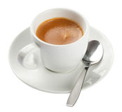 Espresso, Coffee Cup Isolated On White Royalty Free Stock Photos