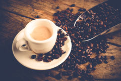 Espresso coffee cup Royalty Free Stock Image