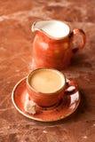 Espresso coffee. Cup coffee Espresso with milk royalty free stock photos