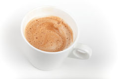 Espresso coffee cup on white table Stock Photo