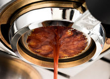 Espresso coffee extraction Royalty Free Stock Photos