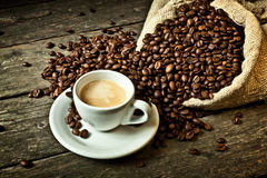 Espresso and coffee grain Stock Image
