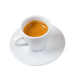 Espresso coffee  isolated with path Royalty Free Stock Photos