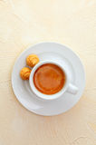 Espresso coffee and macaroons Royalty Free Stock Photography