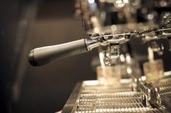 Espresso coffee machine automatic at coffee shop Stock Image