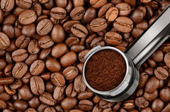 Espresso coffee machine holder Stock Photography