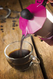 espresso coffee made with mocha Stock Image