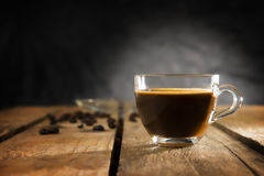 Espresso coffee made with mocha machine at home Stock Image