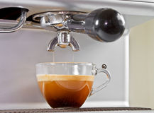 Espresso from coffee maker Stock Image