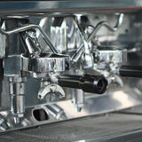 Espresso coffee maker machine. Royalty Free Stock Photo