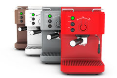 Espresso Coffee Making Machines. 3d rendering Stock Photo