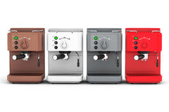 Espresso Coffee Making Machines. 3d rendering Stock Photos