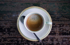 The espresso coffee Royalty Free Stock Photos