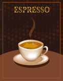 Espresso Coffee Poster Royalty Free Stock Images