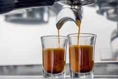 Espresso coffee shot Royalty Free Stock Photos