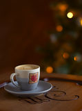 Espresso coffee in a small cup Royalty Free Stock Photography