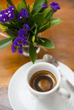 Espresso coffee in small mug Royalty Free Stock Images