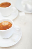 espresso coffee and sugar cubes Stock Image