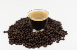 The espresso coffee Royalty Free Stock Photography