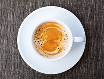 Espresso Coffee, Top View Stock Photo