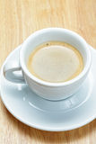 Espresso coffee on wooden board Royalty Free Stock Photos