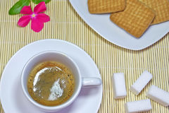 Espresso and cookies Royalty Free Stock Photo