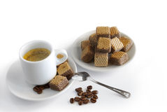Espresso and cookies Royalty Free Stock Images