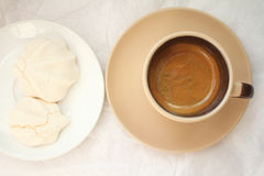 Espresso and cookies Stock Images