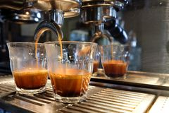 Espresso. Couple glasses of espresso Stock Images