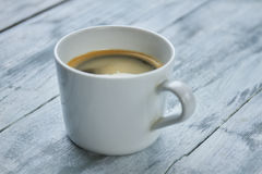 Espresso cup close up. Royalty Free Stock Photography