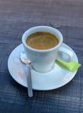 Espresso. A cup of espresso coffee royalty free stock photos