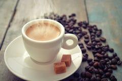 Espresso in cup Stock Photo