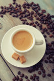 Espresso in cup Stock Images