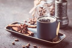 Espresso cup of hot coffee Royalty Free Stock Photo