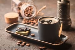 Espresso cup of hot coffee Royalty Free Stock Photography
