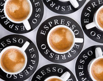 Espresso cups Stock Photography