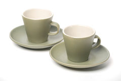 Espresso cups Stock Images
