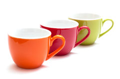 Espresso cups in a row Stock Photos