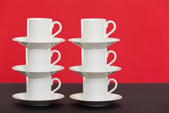 Espresso cups stocked Royalty Free Stock Photography