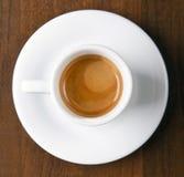 Espresso in der Kaffeetasse stockfotos