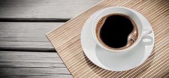 Espresso on desk, above view Stock Photos