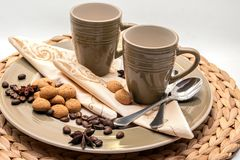 Espresso dishes Royalty Free Stock Image
