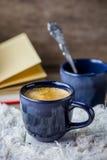 espresso dwa kubki Fotografia Royalty Free