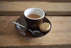 Espresso en koekje royalty-vrije stock fotografie