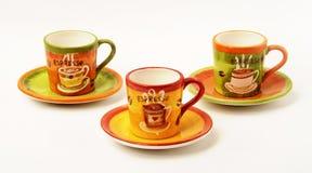 espresso för kaffekoppar Arkivfoto
