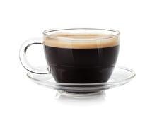 Espresso in glaskop Royalty-vrije Stock Afbeelding