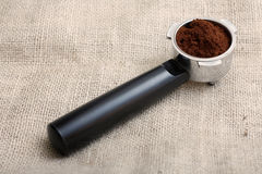Espresso handle Royalty Free Stock Image
